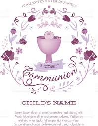 First Communion Invitations Cards Religious Equipment Clip Art Vector Images U0026 Illustrations Istock