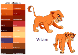 tlk vitani color reference feralheartsfan deviantart