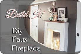 Make A Fireplace Mantel by Diy Faux Fireplace