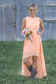 cheap real image country western high low turquoise bridesmaid