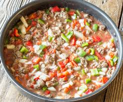 one pot wonder stuffed pepper skillet the wholesome dish