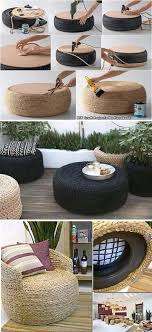 diy recycled home decor table tires tables pallet furniture pinterest tired crafts