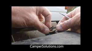 coleman popup camper battery plug connection types youtube