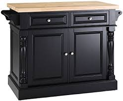black butcher block kitchen island amazon com crosley furniture kitchen island with butcher block