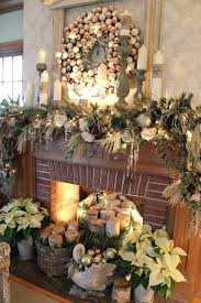 holiday fireplace decorating ideas without mantel christmas photos