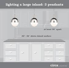 circa lighting blog when installed over large islands a trio of