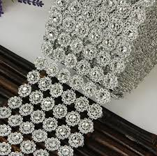bling ribbon aliexpress buy hot sale silver 3 75 3ft 1yards 6rows