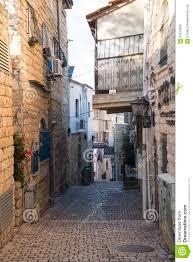 tzfat narrow street tzfat safed israel editorial stock photo