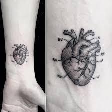 small heart tattoos on arm small anatomical heart tattoo by mr k sanghyuk ko bang bang