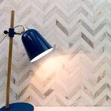 talon calacatta and thassos marble tile chevron pattern stone