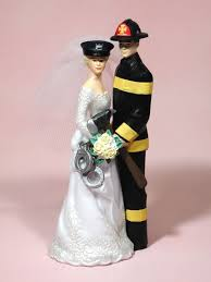 fireman wedding cake toppers our special day officer fireman groom