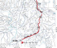 map of oregon springs bagby springs