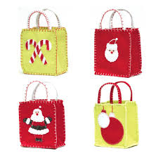 christmas gift bag christmas goodie bags set of 4 ecopartytime