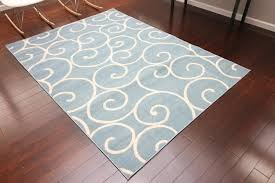 5 X 8 Area Rugs by Light Blue Spiral 8x11 Contemporary Cheap Area Rugs 5x8 Bargain