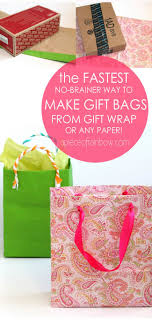 gift wrap bags fastest easiest way to make gift bags from any paper