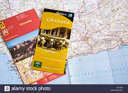Granada Spain Map by Travel Brochures And Map Of Spain Stock Photo Royalty Free Image