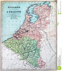 Map Of Holland Antique Map Of Holland And Belgium Royalty Free Stock Photo
