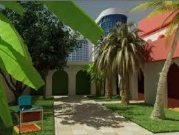 exterior design tropical house garden 3dsmax model 3d model