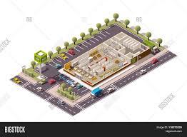 isometric floor plan vector isometric grocery store vector u0026 photo bigstock