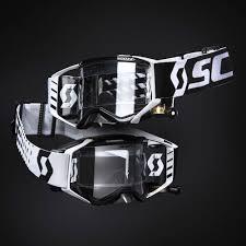 scott prospect motocross goggle 2018 scott prospect wfs black white roll off goggles at mxstore