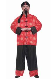 chinese man costume for adults
