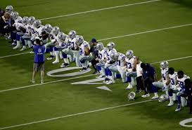 Dallas Cowboys American Flag Nfl Protests Dallas Cowboys Jerry Jones Take Knee Before