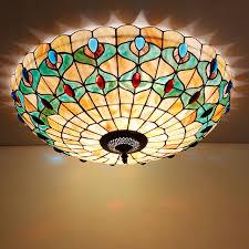 Seashell Light Fixture Led 16 20 24 Inch Mediterranean Shell Ceiling Light