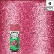 rust oleum specialty 10 25 oz bright pink glitter spray paint 6