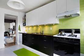 two tone kitchen cupboards black and white dark color countertop