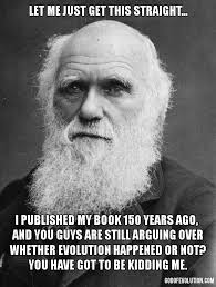 Frustrated Meme - a meme about a frustrated darwin god of evolution