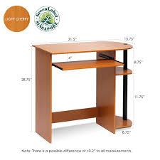 Desk Measurements by Furinno Simplistic Easy Assembly Computer Desk Multiple Colors
