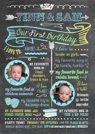 twice as fun twin birthday invitation baby related things