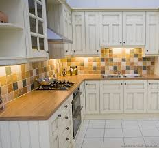 Kitchen Cabinets Kitchen Counter And Backsplash Combinations by Pictures Of Kitchens Traditional Off White Antique Kitchen