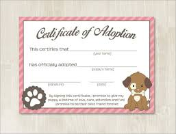 fun certificate templates pet adoption certificate template best u0026 high quality templates
