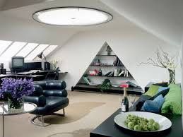 i really like this amazing triangle shaped living room interior