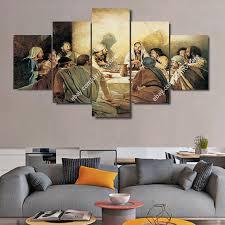 Wall Art Paintings For Living Room Jesus Christ U0026 Apostles Painting Wall Art Canvas Print Christian