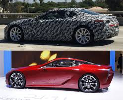 pictures of lexus lf lc spy shot lexus lf lc production prototype spotted on california
