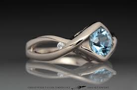 palladium jewelry palladium white gold engagement ring with aquamarine christopher