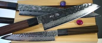 Japanese Folded Steel Kitchen Knives - jck inazuma made of sandvic sweden steel 19c27 hrc60