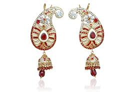 kanphool earrings buy ear ambi maroon kanphool earrings kundan polki jewelry online