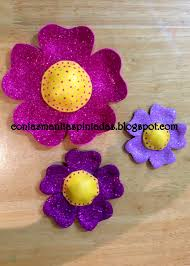 flores de foamy con las manitas pintadas how to make flower with foamy