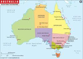 map od australia tourist map australia major tourist attractions maps