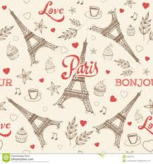 eiffel tower wrapping paper pattern seamless stock photo image 21754100
