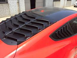 mustang rear louvers 2015 17 mustang rear window louvers style ik2 style abs plastic