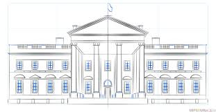 how to draw the white house step by step drawing tutorials