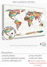 World Map Art Print by Very Large Custom World Map Print Or Printable World Map Art