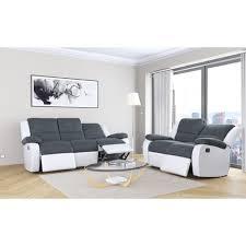 canapé relaxant canapé relax manuel bimatières tissu simili helene pas cher à prix