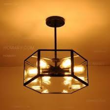 industrial semi flush mount lighting loft metal cage three exposed bulbs semi flush mount ceiling light