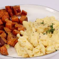Home Fries by How To Make Sweet Potato Home Fries With Scrambled Eggs Cooking