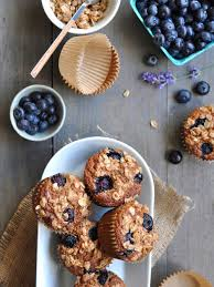 blueberry breakfast muffins with oat crumble gf dairy free